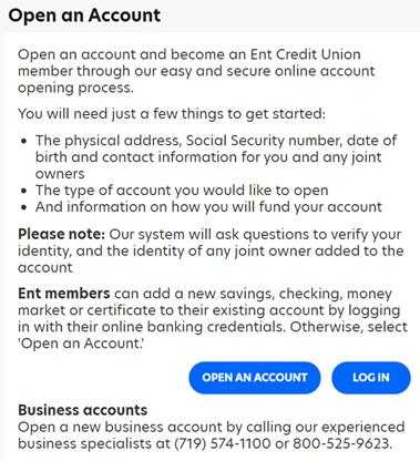 Ent Credit Union Register